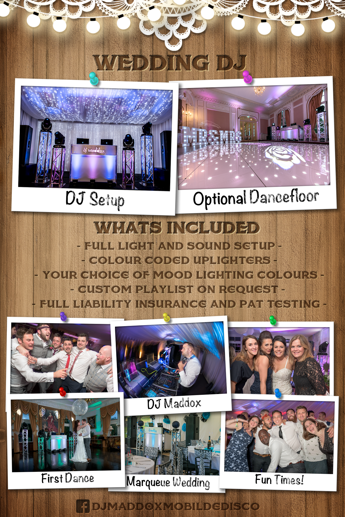 Wedding DJ Package Poster - DJ Maddox Mobile Disco & Wedding DJ